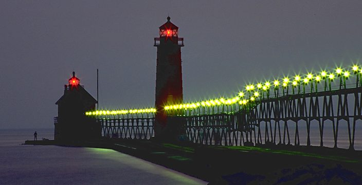 Grand Haven Campground >> Grand Haven Pier Lights